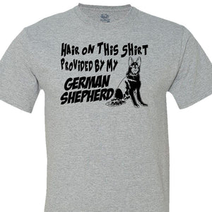 Hair On This Shirt Provided By My German Shepherd - Men's Short Sleeved Tee Shirt