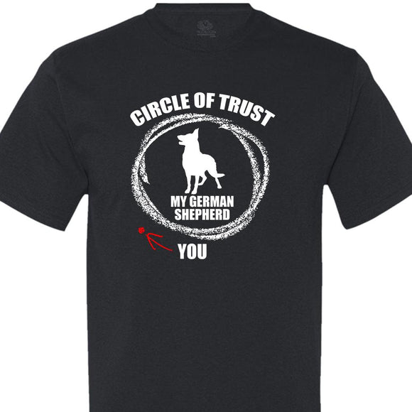 Circle of Trust German Shepherd - Men's Short Sleeved Tee Shirt