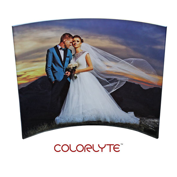 Curved Clear Acrylic photo panels with your cell phone photo, computer or print