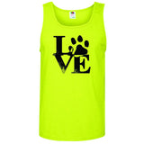 Robert Indiana Inspired Design with Paw Print - Men's Tank Top