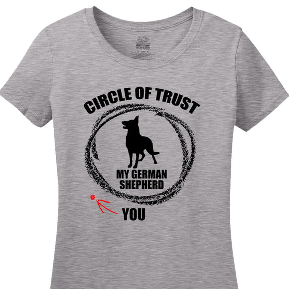Circle of Trust German Shepherd - Women's Short Sleeved Tee Shirt