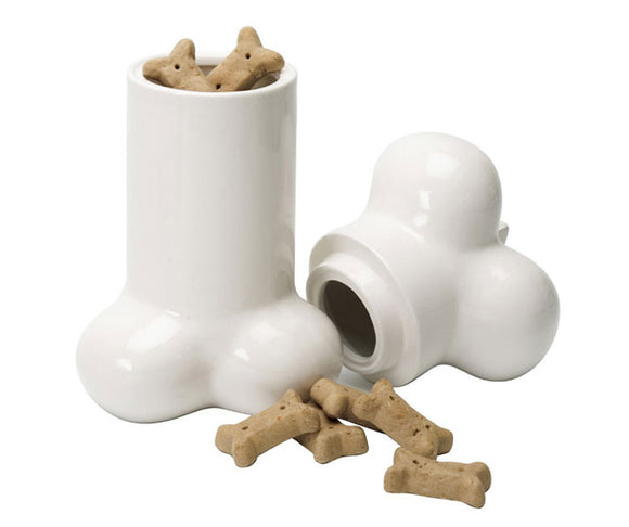 Big Bone-ceramic dog treat cookie jar