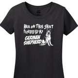 Hair On This Shirt Provided By My German Shepherd - Women's Short Sleeved Tee Shirt