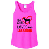 This Girl Loves Her Labrador - Women's Tank Top
