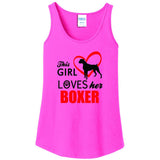 This Girl Loves Her Boxer - Women's Tank Top