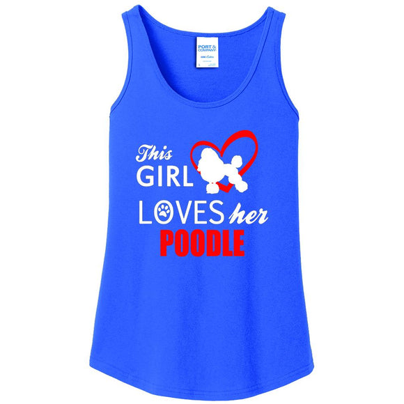 This Girl Loves Her Poodle - Women's Tank Top