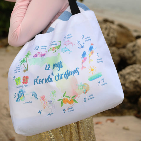 12 Days of Christmas Beach Bag