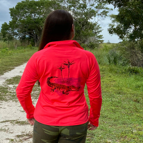 Alligator Beach Quarter Zip Florida Fleece