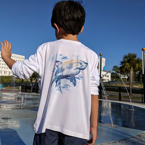 Caloosa Kids Great White Shark Ultra Comfort Shirt