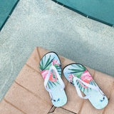 Flamingo Palms Flip Flops
