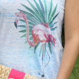Flamingo Palms Tank Top