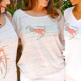 LOBSTER SCOOP NECK SLOUCHY SHIRT