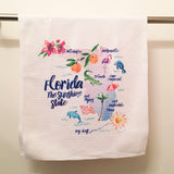 Florida the Sunshine State Microfiber Dish Towel