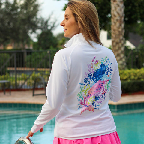 Mermaid Quarter Zip Florida Fleece
