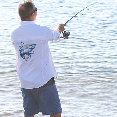 GREAT WHITE SHARK PERFORMANCE FISHING SHIRT