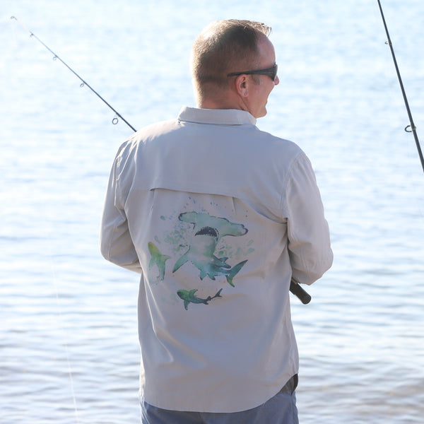 HAMMERHEAD SHARK PERFORMANCE FISHING SHIRT