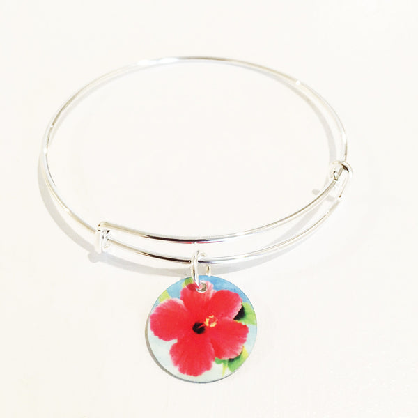 HIBISCUS ADJUSTABLE CHARM BRACELET