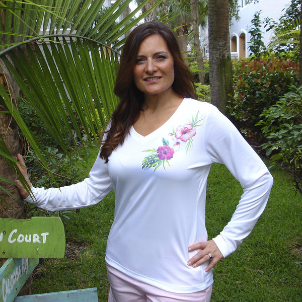 HIBISCUS FLOWER ULTRA COMFORT SHIRT