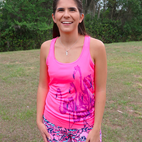 Hot Flock Flamingo Performance Tank Top