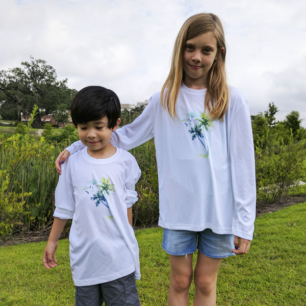 CALOOSA KIDS PALMS ULTRA COMFORT SHIRT
