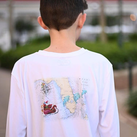 Caloosa Kids Santa Flying Over Florida Ultra Comfort Shirt