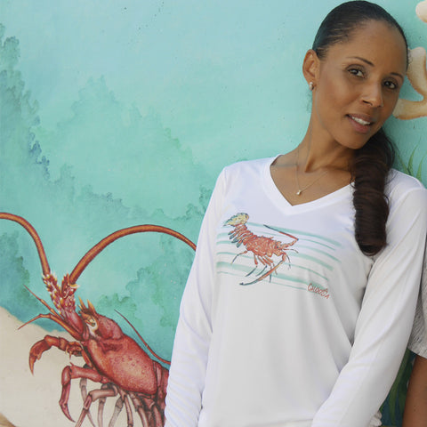 LOBSTER BARS V-NECK ULTRA COMFORT SHIRT
