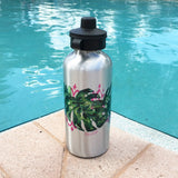 PINK PALM WATERBOTTLE