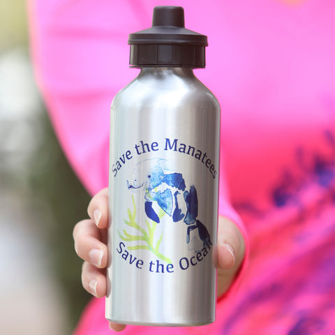 SAVE THE MANATEES WATERBOTTLE