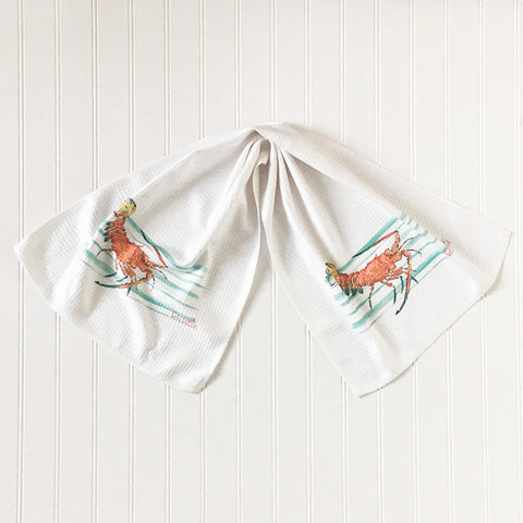 Spiny Lobster Microfiber Dish Towel