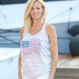 STARFISH & STRIPES RACER BACK TANK TOP