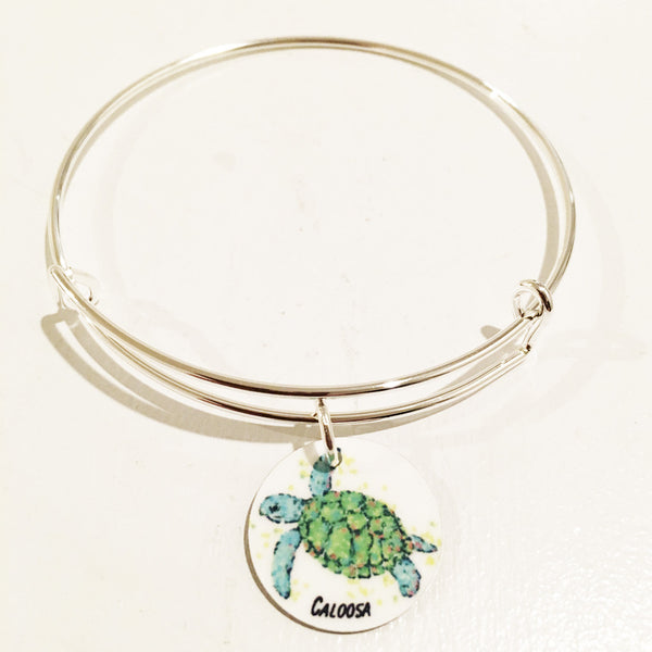 SEA TURTLE ADJUSTABLE CHARM BRACELET