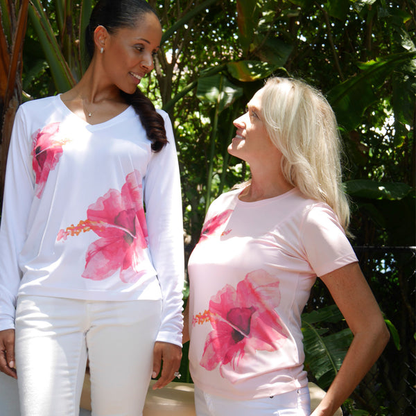 TWIN HIBISCUS ULTRA COMFORT SHIRT