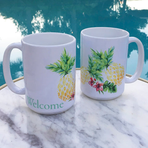 PINEAPPLE WELCOME COFFEE MUG