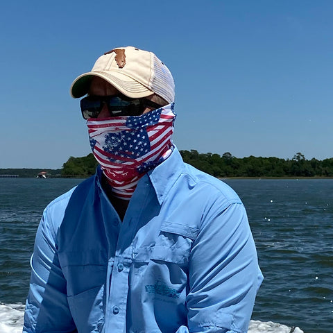 American Flag Fishing Gaiter