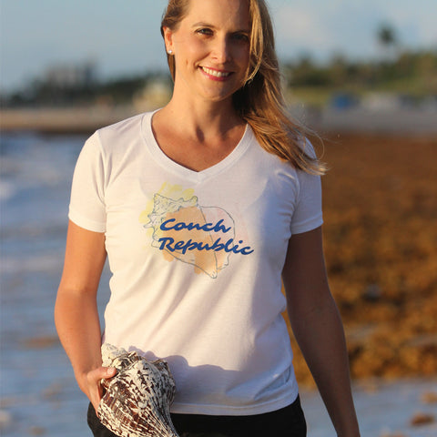 Conch Republic V-neck Fashion T-shirt