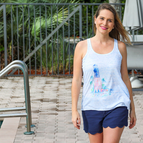 Lighthouse Racer Back Tank Top