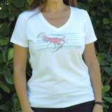 LOBSTER BARS V-NECK FASHION T-SHIRT