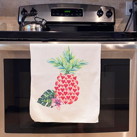 Pineapple Love Microfiber Dish Towel