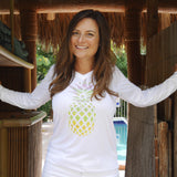 PINEAPPLE PARTY V-NECK ULTRA COMFORT SHIRT