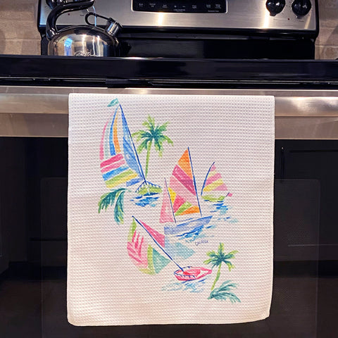 Sail Away Microfiber Dish Towel