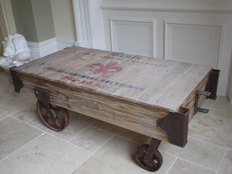 Railway Coffee Table on Wheels