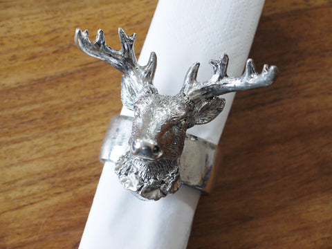 Stag Napkin Holder Ring Set