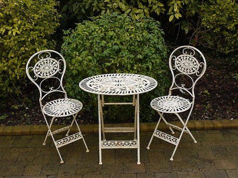 3PCS Garden Bistro Furniture Set In Cream | Furniture Checklist