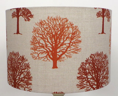 Autumn Brown Terracotta Linen Handmade Lampshade