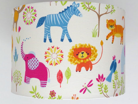Jungle Boogie Zoo Animals Handmade Lampshade