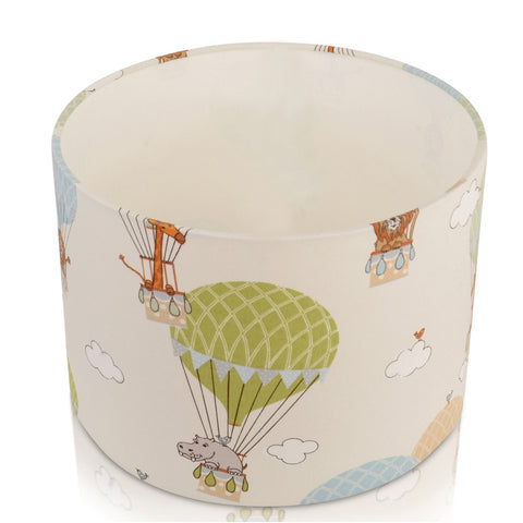 Fun Zoo Animals in Hot Air Balloons Handmade Lampshade Furniture Checklist