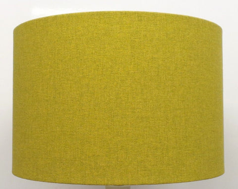'Mira' Brushed Linen Lime Handmade Drum Lampshade | Furniture Checklist