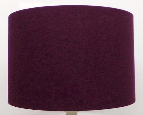'Mira' Brushed Purple Linen Handmade Drum Lampshade | Furniture Checklist