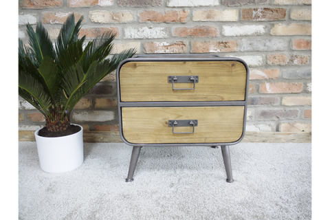 SMALL RETRO INDUSTRIAL CABINET H50cm x W48cm x D39cm | furniturechecklist.co.uk