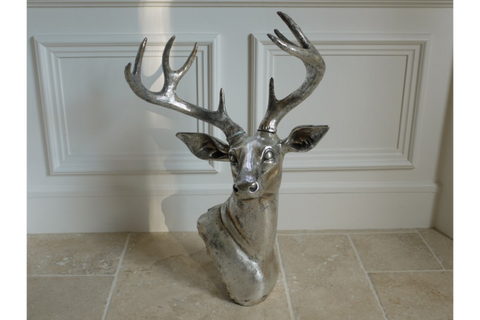 Wall Mounted Deer Head Resin Wall Art | furniturechecklist.co.uk
